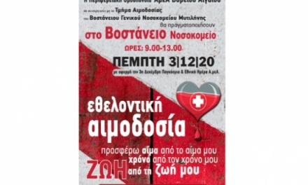 Κάλεσμα για εθελοντική αιμοδοσία